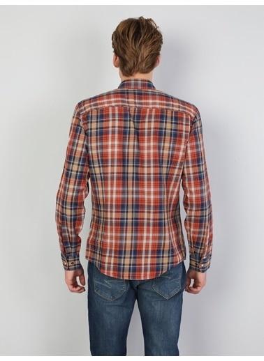 Colin's Colin'S Shirt Neck Uzun Kol Dar Kesim Erkek Gömlek Oranj